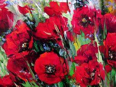 'Poppies' by Gleb Goloubetski (b1975; Omsk, Siberia, Russia)