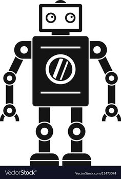Retro robot icon simple style vector image on VectorStock Vector Robot, Vector Icons, Robot Icon, Simple Illustration, Single Image, Simple Style, Retro, Rustic, Mid Century