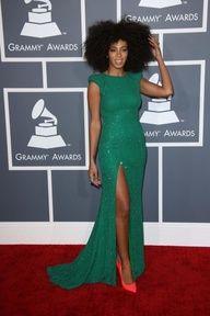 Best Dressed: Grammy Awards 2013 - Solange / Photo by Keystone Press