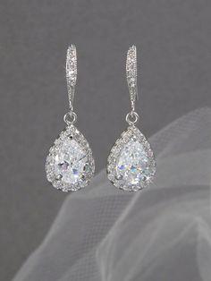 Crystal Bridal earrings  Wedding jewelry by CrystalAvenues on Etsy, $34.00