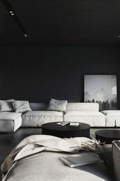 Envy Avenue > Dark Living Room by KUOO Architects.