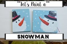 Let's paint a snowman! An easy step by step tutorial with a video link at the end so you can easily paint a snowman yourself. Create signs, paint on fabric or have a paint party. I love paint…