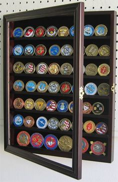 Coin Display On Pinterest Military Shadow Box Military