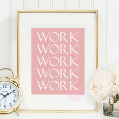 Cute Office Decor Pink Office Decor Work Quote by PrintsbyPhetssy