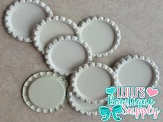 Cream Off White Double Sided Flattened Bottle Cap
