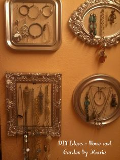DIY Ideas - Home and Garden by Maria: Οργάνωση Κοσμημάτων σε Καδράκια. Organizing, Organization, Diy Ideas, Home And Garden, Frame, Blog, Home Decor, Getting Organized, Picture Frame