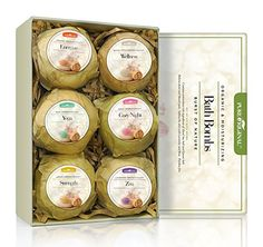 Pure Originals Premium Bath Bombs Pack Of 6 Organic  Natural Ultra Lush Essential Oil Handmade Spa Bomb Fizzies  Moisturizes Dry Skin With Shea Butter  Relaxation In A Box  GREAT GIFT *** You can find out more details at the link of the image.