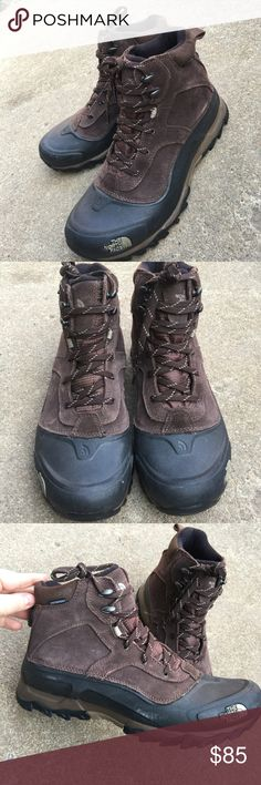 Men's The North Face Brown Leather Hiking Boots 10 Men's The North Face Brown Leather Hiking Boots 10M Waterproof  Excellent Condition The North Face Shoes Boots