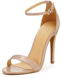 Shoebox Shoe Box Isabella Minimal Ankle Strap Heeled Sandals - Nude on shopstyle.co.uk
