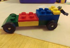 Lego scouts Pinewood derby car