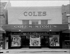 Coles Store No1 in Collingwood, Melbourne Vic. Australia, remodelled by Harry Norris 1930s