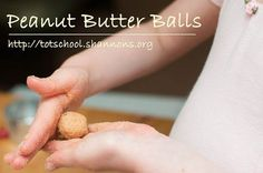Peanut Butter Balls - Very fun (no cooking required) recipe to make with kids and almost healthy too!