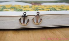 925 Sterling Silver Tiny Anchor Stud Earrings by diversitymade, $21.99