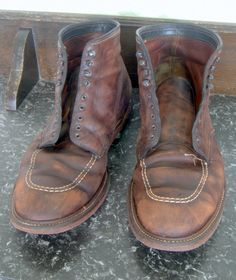 Post with 3251 views. My Alden Indy boots after a years, many Seattle rainy miles and an entire tin of mink oil (also their first saddle-soaping) Alden Indy Boot, Alden Boots, Short Boots, Fashion Boots, Leather Shoes, Chelsea Boots, Combat Boots, Indiana Jones, Indie