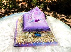 Violet Flame Orgone Large Orgone Crystal Pyramid Crown