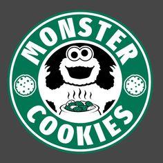 Monster Cookies Starbucks Logo Men's T-Shirt Men's T-Shirt Cloud City 7 - 3 Starbucks Birthday, Disney Starbucks, Starbucks Logo, Starbucks Coffee, Tumblr Love, Coffee Logo, Diy Art Projects, Bear Wallpaper, Wallpaper Iphone Disney