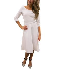 Look what I found on #zulily! White A-Line Dress by Soul Harmony Energy #zulilyfinds