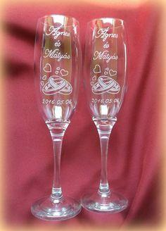 Pezsgőspoharak gravírozva #minibazár #esküvő
