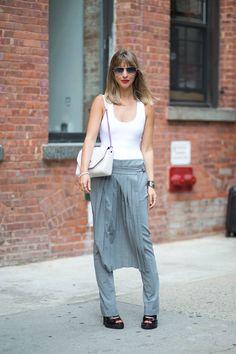 Kerry Pieri in Tibi pants, Alix bodysuit and a Givenchy bag.