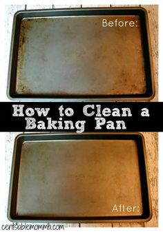 I thought it was just a fact of life that baking pans eventually get covered in baked on black stuff, and there was basically nothing you could do about it (even with scrubbing with soap and water). We even got rid of 2 baking bans before we moved because they were so bad that I …