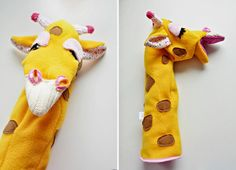 LadyStump #muppet #giraffe #mascot #ladystump #plush #yellow
