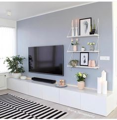 50 Affordable Apartment Living Room Design Ideas On A Budget Home Living Room, Apartment Living, Living Room Designs, Living Room Ideas, Living Room Wall Colours, Living Area, Living Room Tv Unit, Living Room Paint, Home Interior Design