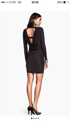 H&M Long Sleeve Glittery Dress on Mercari Cold Shoulder Dress, Outfits, Black, Dresses, Night, Party, Fashion, Little Black Dresses, Fashion Ideas