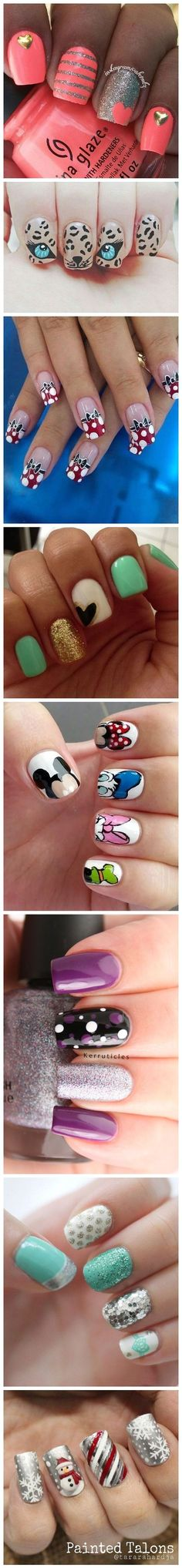 In seek out some nail designs and ideas for your nails? Listed here is our list of 34 must-try coffin acrylic nails for fashionable women. Toe Nail Designs, Simple Nail Designs, Cute Nail Art, Easy Nail Art, Fabulous Nails, Gorgeous Nails, Do It Yourself Nails, Uñas Fashion, Disney Nails