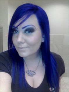My blue hair!