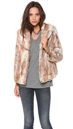 alice + olivia Annistyn Faux Fur Jacket Shopbop $367