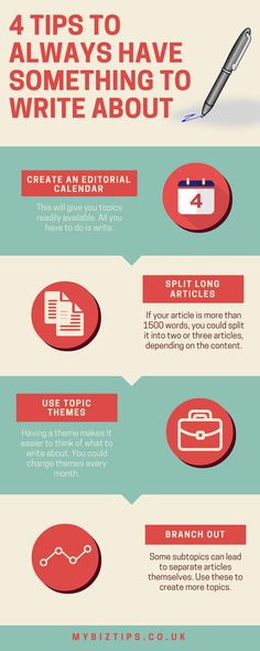 Saturday Biz Tip: Always Have Something to Write About [Infographic]