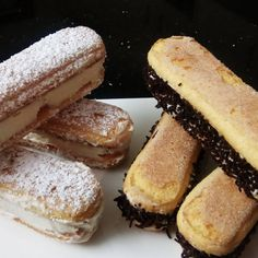 Sandwich them together using tiramisu cream, dust with icing sugar or line sides with sprinkles. Delicious and light for afternoon tea! Lady Finger Biscuit, Lady Fingers, Afternoon Tea, Biscotti, Tiramisu, Sprinkles, Icing, Sandwiches, Cheesecake
