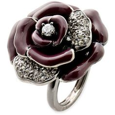 Juicy Couture Pave flower ring