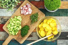 Zutaten für unsere Salate zum Grillen