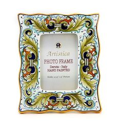 PHOTO FRAME: Deruta Vario Foglie Verdi (For 35x5 Picture)