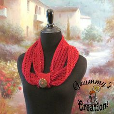 Ravelry: Defined Infinity #crochet #pattern by Becky Dirlam of Grammy's Creations