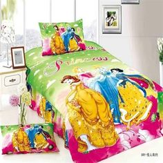 beautiful fairy queen girls twin single size bedding set of duvet cover bed sheet pillow case bed linen set