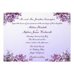 Lilac Wedding Announcement