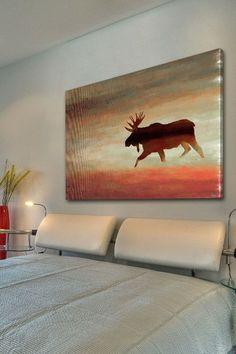 Moosehead Canvas Wall Art