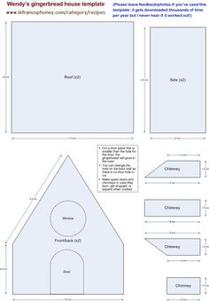 small gingerbread house template @Jody Rieck Rieck McMillan .  Maybe this will help!!!!                                                                                                                                                                                 More