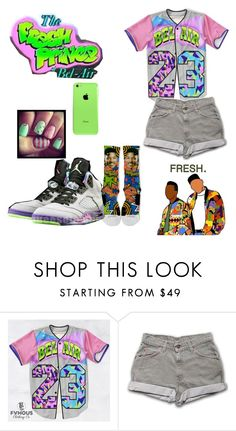 """Fresh prince of bel-air"" by haileycouture ❤ liked on Polyvore featuring NIKE and Retrò"