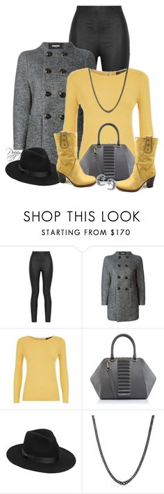 """""""Black, Gray & Yellow"""" by bainbridgegal ❤ liked on Polyvore featuring Armani Jeans, Dsquared2, Weekend Max Mara, Kristina George, Frye, Lack of Color, David Yurman, Journee Collection and WearIt"""