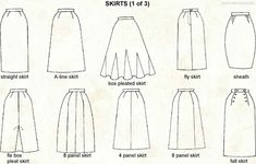 2nd skirt from the right bottom should be a 6-panel skirt instead of 8-panel