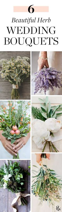 Herb Bouquets: The Newest Wedding Trend We're Weirdly Obsessed With #herbbouquets #weddingbouquets #weddingtrends #wedding