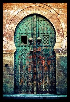 Painting this. Such an inspiring door  full of character and color!