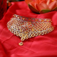 Gold Ring Designs, Gold Bangles Design, Gold Earrings Designs, Gold Jewellery Design, Necklace Designs, Diamond Jewellery, Real Gold Jewelry, Gold Wedding Jewelry, Gold Jewelry Simple