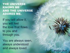#AbrahamHicksQuotes #Universe #Adores                                                                                                                                                                                 Más