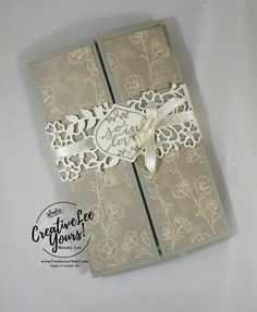 5 Panel Fancy Fold by Wendy Lee, Stampin Up, #creativeleeyours, Falling for youstamp set, So in love stamp set, so detailed thilits, January 2017 FMN class