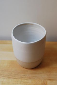 White Ceramic Mug without handle Medium Size, Stoneware Handthrown Big Cup Latte Cups, Coffee Cups, Tea Cups, Stoneware Clay, Ceramic Cups, Safe Food, White Ceramics, Pottery, Handle