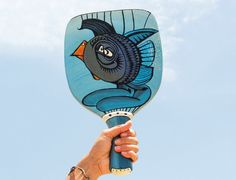 PAINTED BEACH RACKET The Birdfish and the Reader by LiliGabbiano
